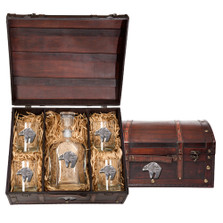 Bear Tribal Capitol Decanter Chest Set