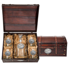 Dolphin Capitol Decanter Chest Set