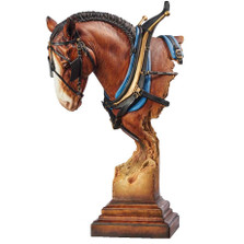 "Clydesdale Horse Sculpture ""A Light Burden"""