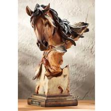 """Horse Sculpture """"Sunka Wakan"""" War Pony"""
