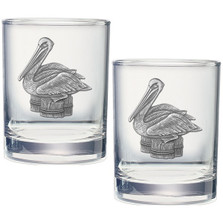 Pelican Double Old Fashioned Glass Set of 2