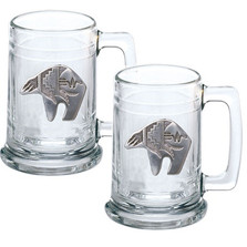 Bear Tribal Beer Stein Set of 2