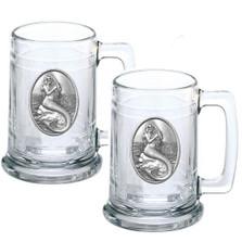 Mermaid Beer Stein Set of 2