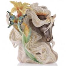 Paean Horse Sculptured Porcelain Vase | FZ03521 | Franz Collection
