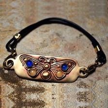Butterfly Matte Brass Rockband Bracelet | Nature Jewelry