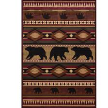 """Bear Area Rug """"Native Bear"""""""