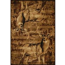 "Deer Area Rug ""American Buck"""