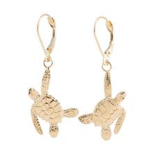 Sea Turtle 14K Gold Earrings | Nature Jewelry