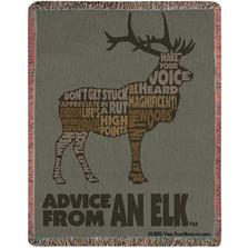Elk Advice Tapestry Throw Blanket