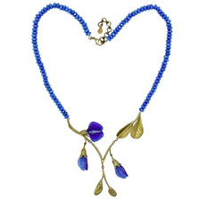 False Indigo Statement Necklace | Nature Jewelry