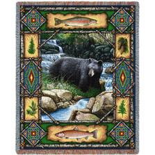 Bear Lodge Tapestry Throw Blanket