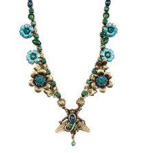 Bird and Bee Flower Necklace  | Nature Jewelry