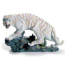 Mythological White Tiger Porcelain Figurine