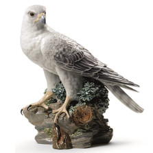 Gyrfalcon Porcelain Figurine