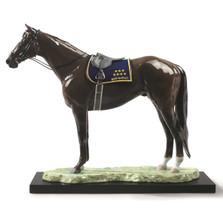 "Horse Porcelain Figurine ""Deep Impact"""