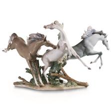 "Horse Porcelain Figurine ""Born Free"""