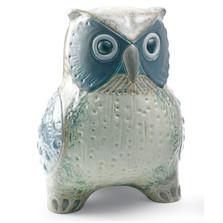 Grey Owl Porcelain Figurine