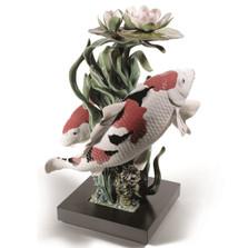 Koi Porcelain Figurine