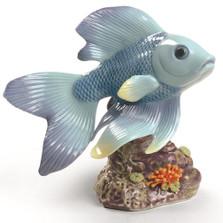 """Fish Porcelain Figurine """"Pond Dreamer"""""""