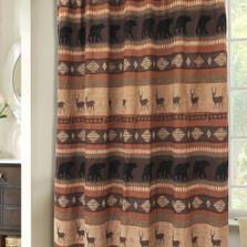Deer And Bear Autumn Trails Shower Curtain