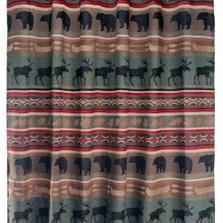 Bear and Elk Backwoods Shower Curtain