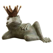 Lazy Frog Prince Sculpture Bird Feeder | 33218