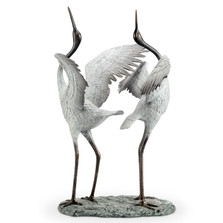 "Crane Garden Sculpture ""Good Fortune""   34568"