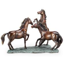 """Horse Trio Sculpture """"Prairie Dance""""   80323"""