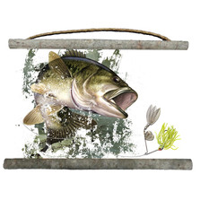 Bass Canvas Wall Hanging