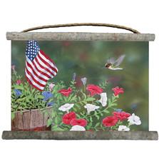 "Hummingbird Canvas Wall Hanging ""Garden Glory"""