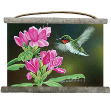 "Hummingbird Canvas Wall Hanging ""Opening Day"""