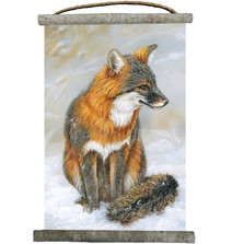 Gray Fox Canvas Wall Hanging
