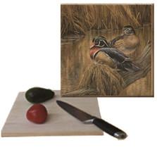 "Duck Cutting Board ""Back Water Wood Ducks"""