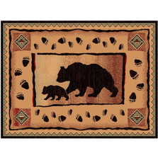 Bear and Cub Lodge Area Rug