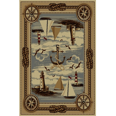 Anchor and Sailboat Wilderness Area Rug