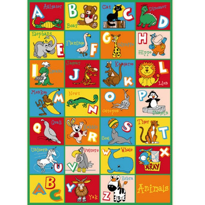 Alphabet Animals Paradise Area Rug