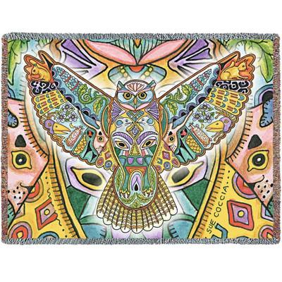 Owl Tapestry Throw Blanket