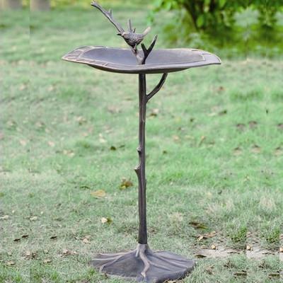 Bird on Branch Sundial Birdbath   33348