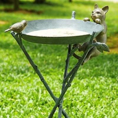 Cat & Bird Birdbath | 33562