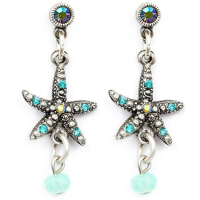 Starfish Droplet Earrings | Nature Jewelry