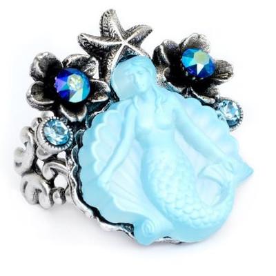 Mermaid Glass Ring | Nature Jewelry