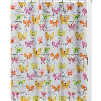 "Butterfly Shower Curtain ""Flutterby"""