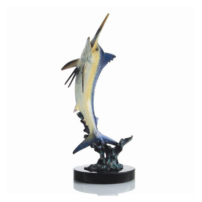 "Marlin Sculpture ""Excited Blue"" 