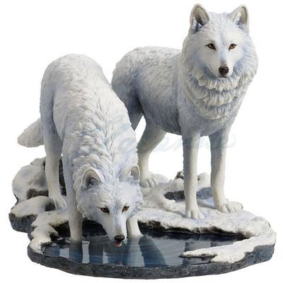 """Wolf Sculpture """"Winter Warriors"""""""