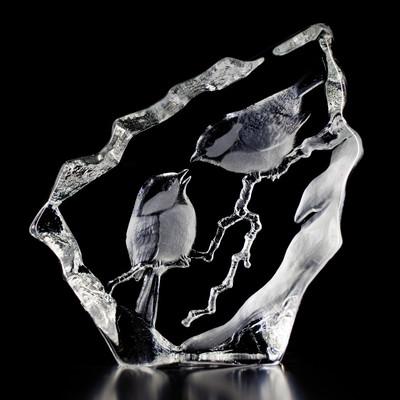 Chickadee Crystal Sculpture | 33592