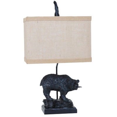 Bear Fishing Table Lamp