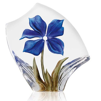 Obia Blue Flower Crystal Sculpture | 34019