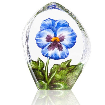 Blue Pansy Crystal Sculpture | 34216