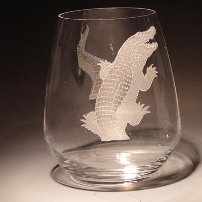 Alligator Stemless Wine Glass Set of Four