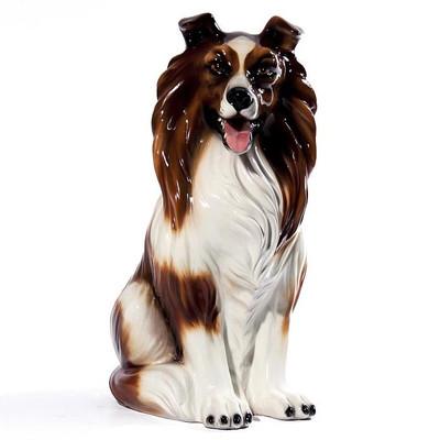 Collie Ceramic Dog Sculpture